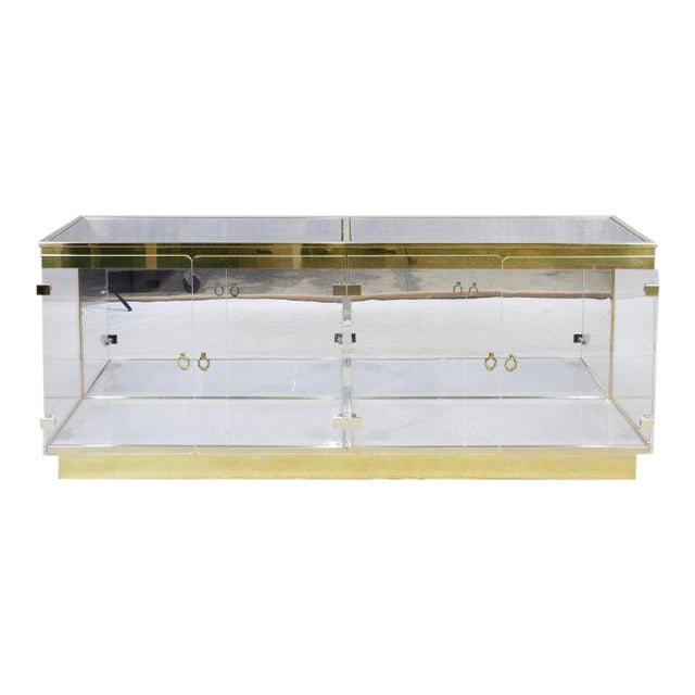 Double Plexiglass Display Case Attributed to Mastercraft For Sale