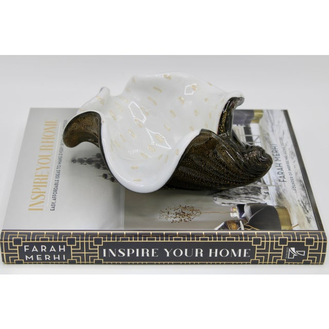 Mid-Century Murano Glass Conch Shell Bowl For Sale - Image 11 of 13