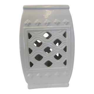 Chinese White Ceramic Garden Stool For Sale