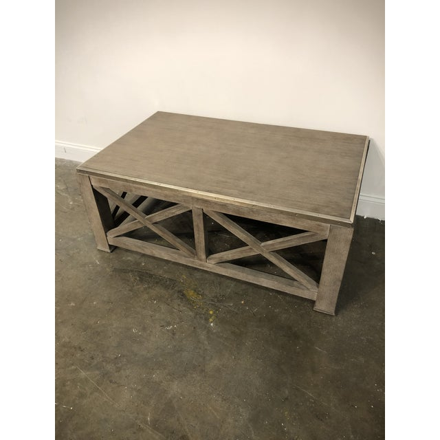 Rustic Rustic Lillian August for Hickory White Burleigh Slim Coffee Table For Sale - Image 3 of 6
