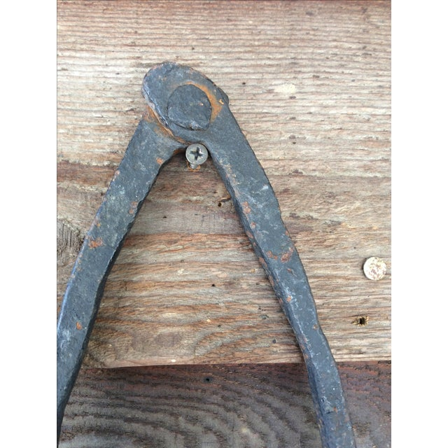 Primitive Cast Iron Tongs - Image 4 of 8