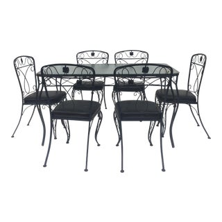 Vintage Modern Patio Set- Table With Chairs For Sale