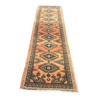 Handwoven Persian Tribal Antique Hallway Runner - 2′6″ × 9′10″