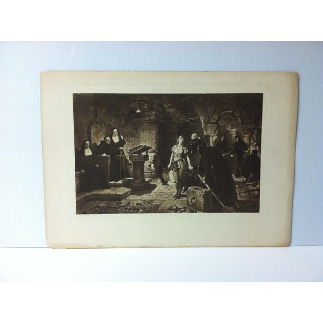 """Vintage Print on Paper, """"The Trial"""" -- Artist Unknown, Circa 1900 For Sale - Image 4 of 4"""