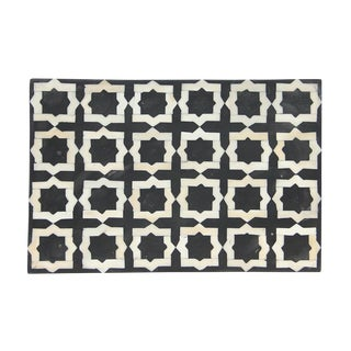 Bone Inlay Box - Black and White Tile For Sale
