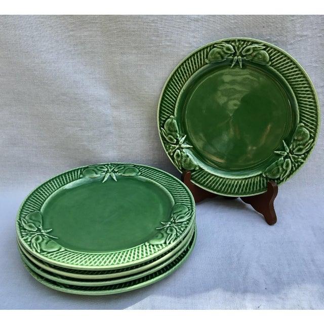 Boho Chic Pinheiro Bunny Rabbit Luncheon Plates - Set of 5 For Sale - Image 3 of 7