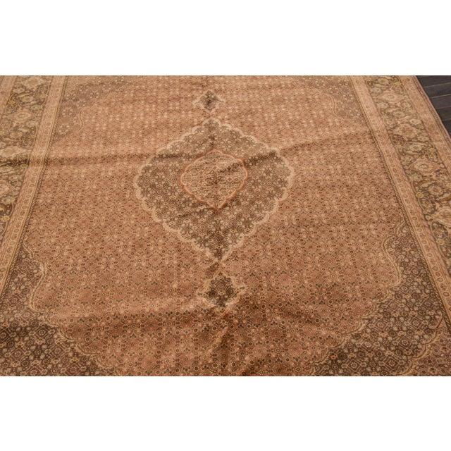 "Traditional Apadana Vintage Persian Tabriz Rug - 6'8"" x 7'9"" For Sale - Image 3 of 7"