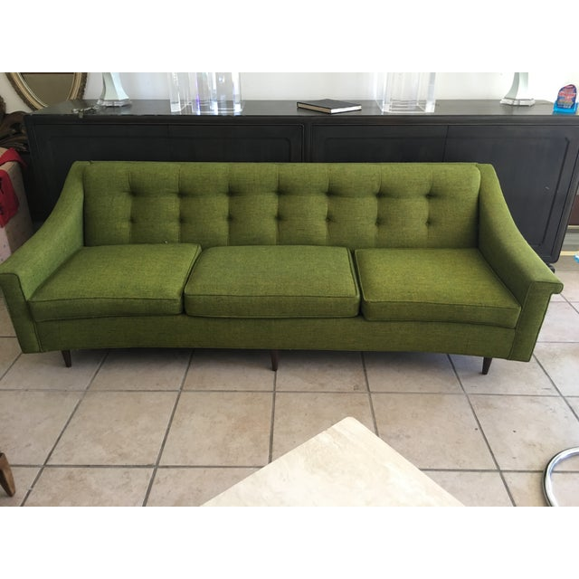 Vintage Lime Green Sofa - Image 2 of 11