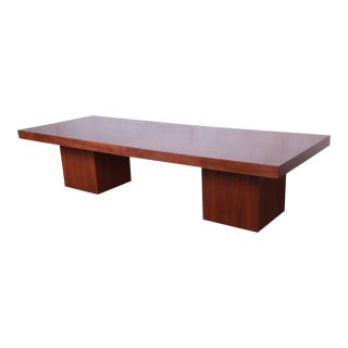 John Keal for Brown Saltman Walnut Extendable Coffee Table, Newly Restored For Sale