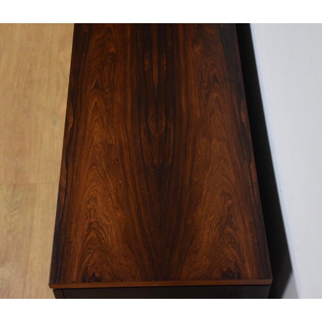 Lacquer Rosewood Modern Credenza For Sale - Image 7 of 10