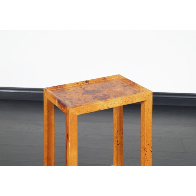 Vintage Ostrich Leather Table by Karl Springer For Sale In Los Angeles - Image 6 of 9