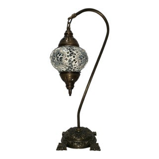 Turkish Handmade Mosaic Glass Lamp For Sale