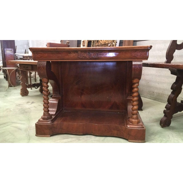 About Biedermeier style Spanish console table with drawer and beautiful inlays. Details OF THE PERIOD Biedermeier PLACE OF...