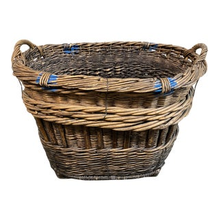 Early 20th Century Large Vineyard Basket For Sale
