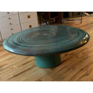 Vintage Hand Thrown Ceramic Pottery Coffee Table by Joel Cottet Preview