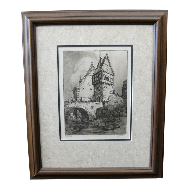 German Engraving of Rothenburg Ob Der Tauber - Image 1 of 8