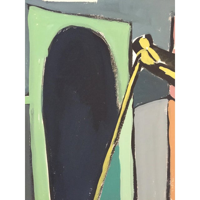"""Jerry Opper 1940-50s Bay Area Figurative Movement Painting """"Stick"""" For Sale - Image 4 of 5"""