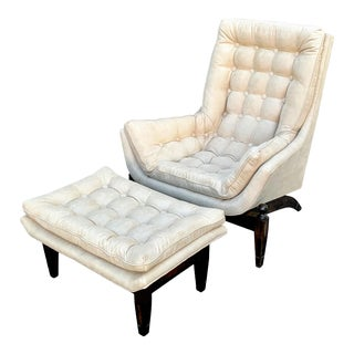 1960s Adrian Pearsall Lounge Chair and Ottoman - a Pair For Sale