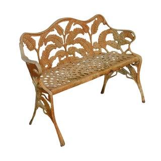 Antique Cast Iron Fern Garden Bench For Sale