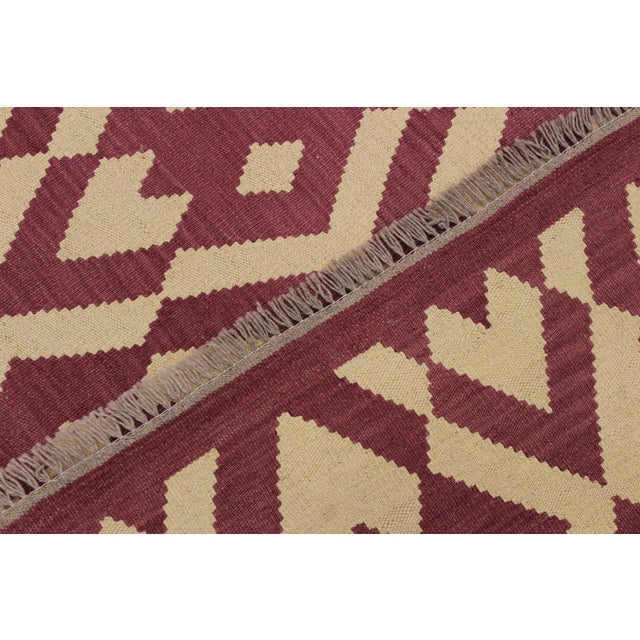 Textile Modern Abstract Kilim Anjelica Hand-Woven Wool Rug -5′11″ × 8′4″ For Sale - Image 7 of 8