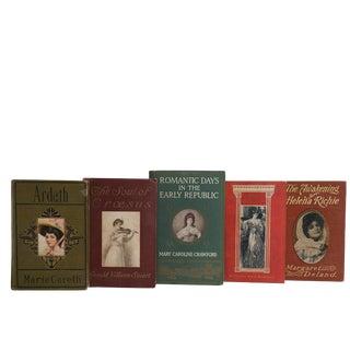 Vintage Book Decorative Display Set - Edwardian Era Romance