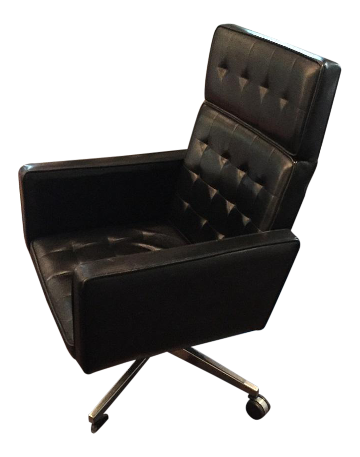 Florence Knoll Leather Executive Chair