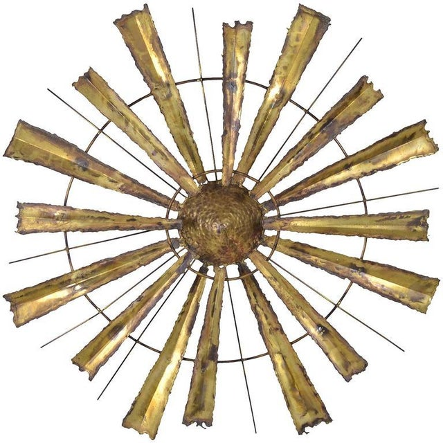 Torch Cut Brutalist Sunburst, circa 1970s - Image 7 of 7