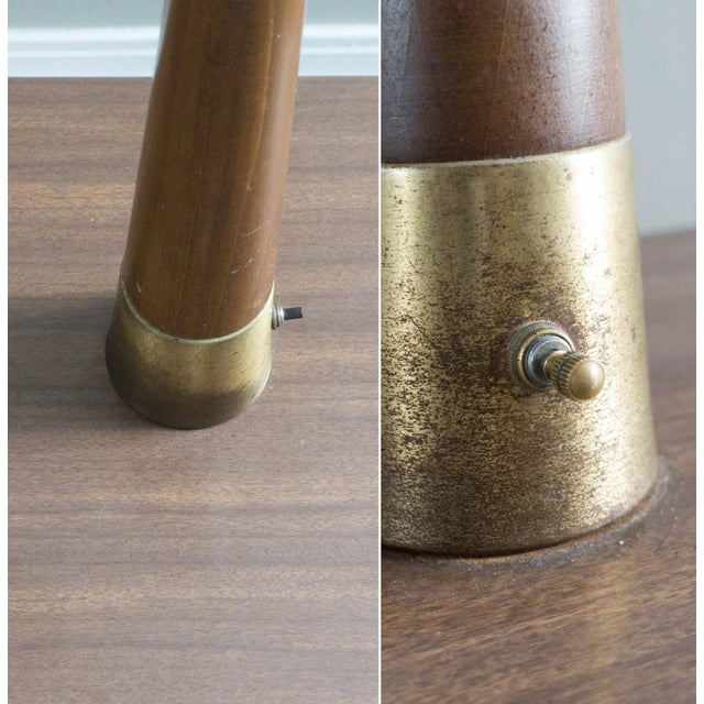 Vintage Mid-Century Modern Lamp Side Tables - A Pair - Image 3 of 5