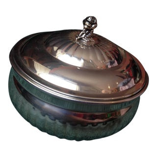1963 Wallace Circular Silver Covered Bowl For Sale