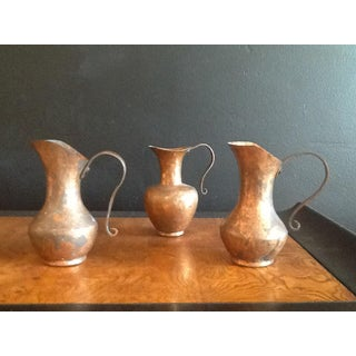 1900s Traditional Solid Copper Hammered Ewers - Set of 3 Preview
