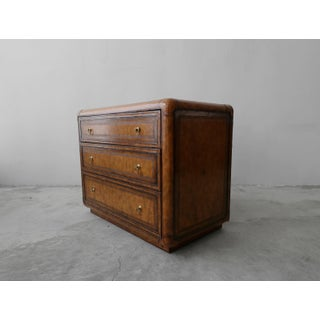 Leather and Brass Dresser Chest by Maitland Smith Preview