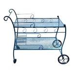 Woodard Salterini Style Wrought Iron Patio Bar Cart