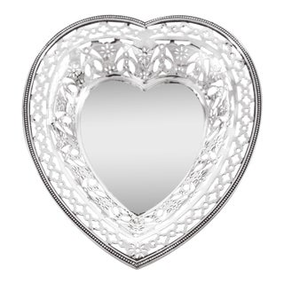 Sterling Heart Dish For Sale