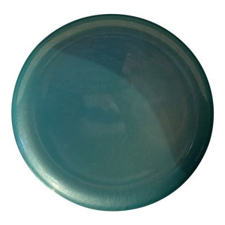 Mid-Century Turquoise Glaze Tray For Sale