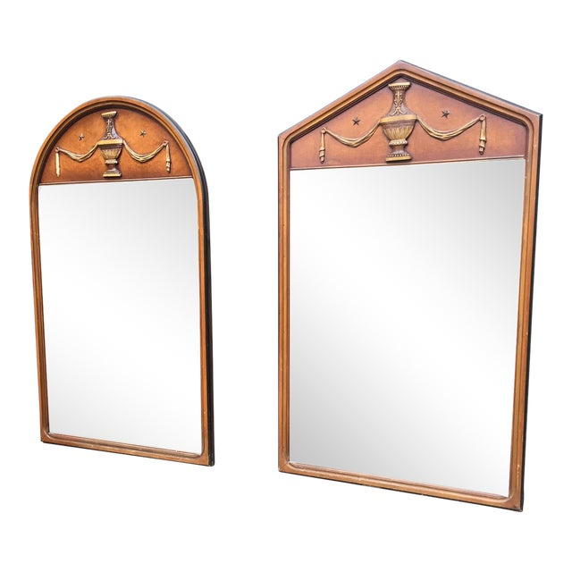 Vintage Wooden Mirrors - A Pair - Image 1 of 5