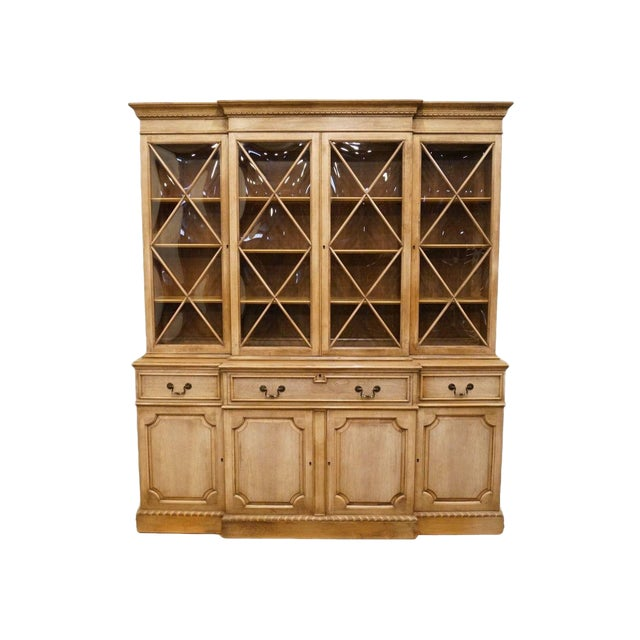 """Saginaw Furniture Country French Regency 72"""" Secretary Display China Cabinet For Sale"""