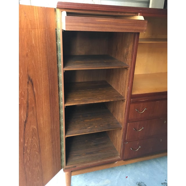 Mid-Century Mahogany Chifforobe For Sale In Indianapolis - Image 6 of 9