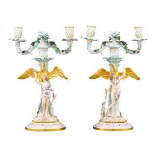 Meissen Two-Light Candelabra - A Pair