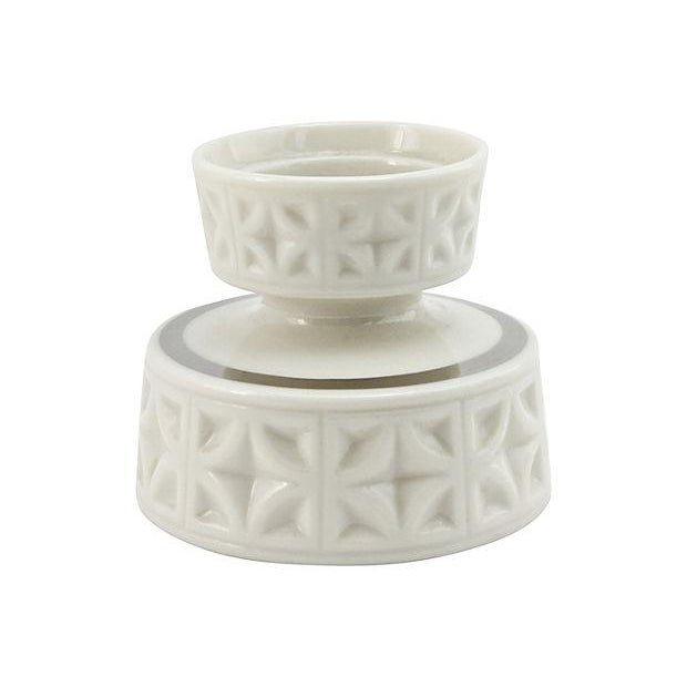 Lenox Silver Anniversary Candleholders - A Pair - Image 3 of 5