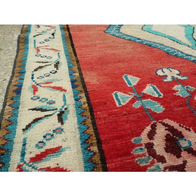 "Mid 20th Century Vintage Persian Mahal Rug - Size: 3' 8"" X 5' 1"" For Sale - Image 5 of 10"