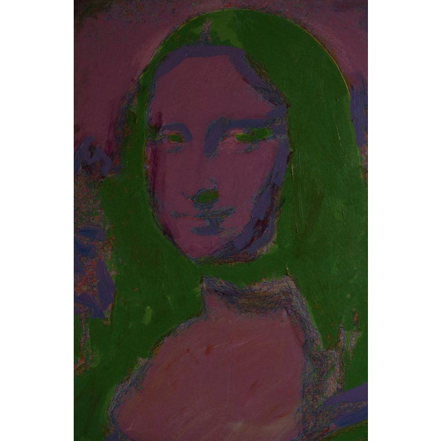 Modern Giclee on Canvas Painting of Warhol's Mona Lisa For Sale - Image 3 of 12