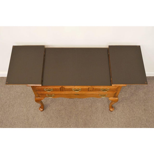 """Wood Dixie Court Collection Cherry 40"""" Flip-Top Server Buffet 120-862 For Sale - Image 7 of 13"""