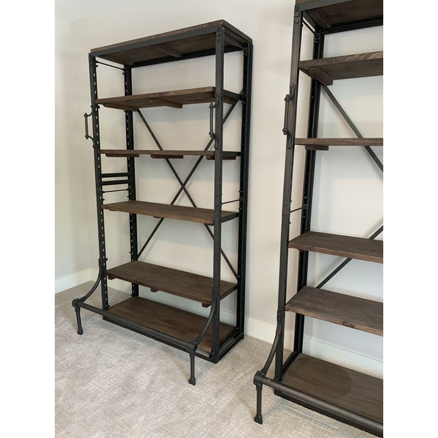 Contemporary Restoration Hardware French Library Bookcases - a Pair For Sale - Image 3 of 5