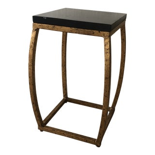Transitional Currey and Company Boxwell Accent Table For Sale