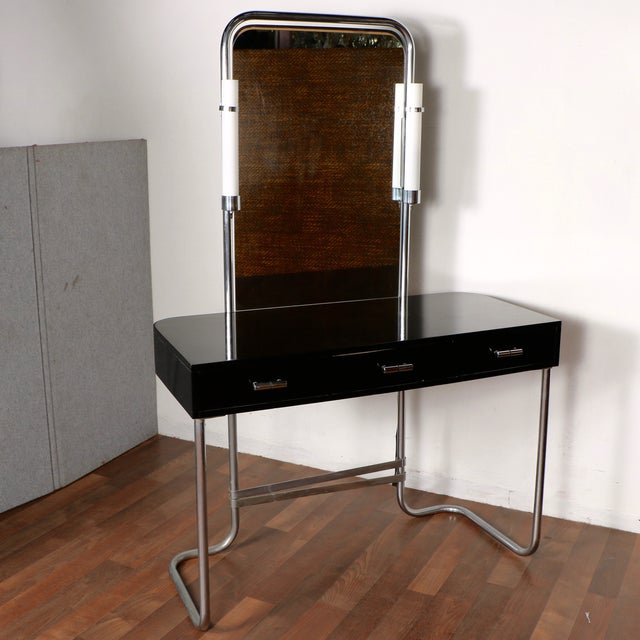 Art Deco Vanity with Stool - Image 4 of 11