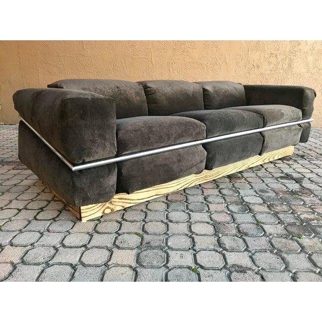 Restored Craft Associates Chrome Sofa For Sale - Image 9 of 9
