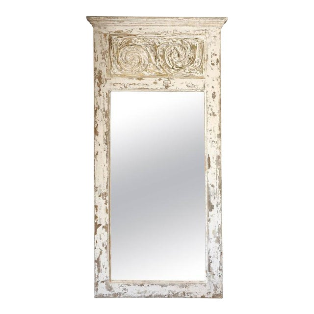 Painted Trumeau Mirror For Sale