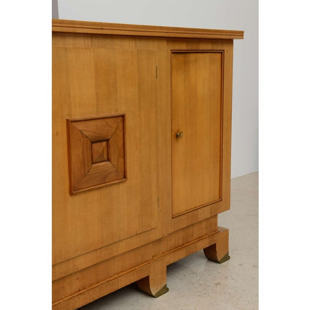 Gold Fine French Modern Fruitwood Sideboard or Buffet by Jules Leleu For Sale - Image 8 of 9