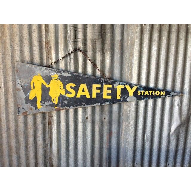 Antique Safety Station Sign - Image 2 of 8