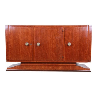 French Art Deco Mahogany Sideboard or Bar Cabinet, 1940s For Sale